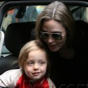 Angelina Jolie Hangs Out With Her Kids