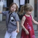Brad And Angelina's Twins Hang With Their Manny