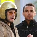 Connor Cruise And Pal Alex Pettyfer Ride Their Motorcycles Around Town