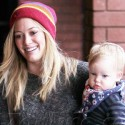 Hilary Duff Strikes A Pose With Son Luca