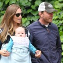 Guy Ritchie And Jacqui Ainsley Go For A Stroll With Infant Daughter
