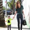 Miranda Kerr Holds Hands With Her Little Man