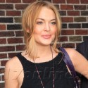 Lindsay Lohan Works Out Outside Of <em>Letterman</em>