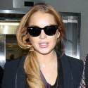 Lindsay Lohan Lands At L.A.X.