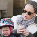 Pink And Her Daughter Go For A Bike Ride