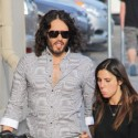 Russell Brand Arrives At Jimmy Kimmel Live