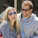 Pete Sampras And His Wife Laugh After Lunch