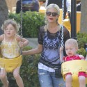 Tori Spelling Takes Her Kids To The Park