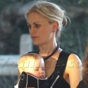 Anna Paquin And Her Twins Attend A Party