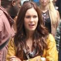 Megan Fox On The Set Of <em>Teenage Mutant Ninja Turtles</em>