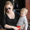 Hilary Duff Hangs On Tight To Her Growing Son