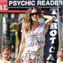 Sarah Jessica Parker Goes For A Stroll With Her Daughters In NYC
