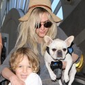 Ashlee Simpson Lands At LAX WIth Her Babies