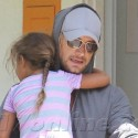 Gabriel Aubry Picks Up Little Miss Nahla