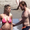 Pregnant Michelle Hunziker Packs On The PDA With Her Boyfriend