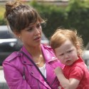 Jessica Alba Escorted To Yoga By Her Family