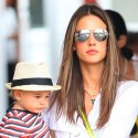 Alessandra Ambrosio Spends The Day With Her Kids