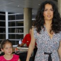 Salma Hayek And Daughter Valentine Are All Dolled Up At LAX
