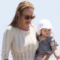 Uma Enjoys The South Of France With Baby Rosalind