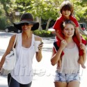 Brooke Burke And Her Kids Goof Around During Shopping Trip