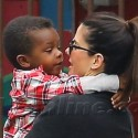 Sandra Bullock Hangs On Tight To Her Little Boy