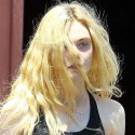 Elle Fanning Sweats It Out At Yoga