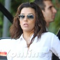 Eva Longoria Heads To A Meeting At Chateau Marmont