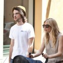 Sienna Miller And Tom Sturridge With Their Daughter In Rome