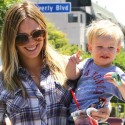 Hilary Duff Takes The Family Grocery Shopping