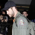 Liam Hemsworth Flies In To L.A. After Promoting His Movie In N.Y.C.