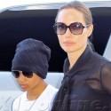 Angelina Jolie And Maddox Jet To London