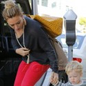 Hilary Duff And Her Pouty Son