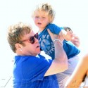 Elton John, David Furnish And Sons Have Family Trip In St. Tropez