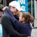 Ashton Kutcher And Mila Kunis Hug Before Hiking The Great Wall Of China