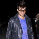 Adam Lambert Dines At Crossroads In Hollywood