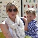 Selma Blair Takes Her Adorable Son To The Farmers Market