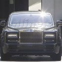 Simon Cowell Hides In His Rolls Royce After Promoting <em>The X Factor</em>