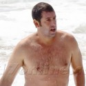 Adam Sandler Shows Off His Belly At The Beach