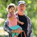 Bruce Willis Takes Daughter Mabel To The Park