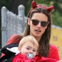 Alessandra Ambrosio And Her Kids Go To A Halloween Carnival