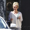 Britney Spears Dressed Way Down At Los Angeles Recording Studio