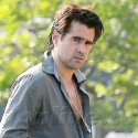 Colin Farrell Barely Buttons His Shirt