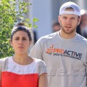 Jamie-Lynn Sigler Takes Her Baby Boy Beau Out For A Walk
