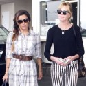 Eva Longoria And Melanie Griffith Lunch And Shop Together