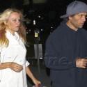 Pamela Anderson And Rick Solomon Grab Dinner