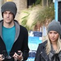 Ashley Tisdale And Her Boyfriend Leave Pilates