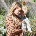 Hilary Duff Wears Minidress To Take Luca For A Playdate
