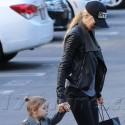 Kimberly Stewart Walks Her Daughter To School