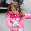 Suri Cruise Carries A Stuffed Animal In NYC