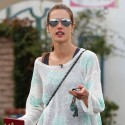 Super Skinny Alessandra Ambrosio Hits The Gym On Thanksgiving